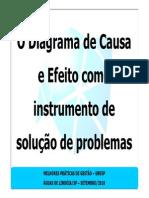 13. O Diagrama de Causa e Efeito Como Instrumento de Solução de Problemas