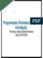 Programacao Orientada a Objeto - Introducao