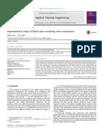 Experimental study of fixed-vane revolving vane compressor
