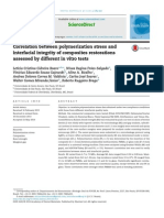 Correlation between polymerization stress and interfacial integrity of composites restorations assessed by different in vitro tests