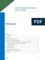 True Cost Providing Energy Telecom Towers India