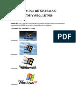 Clasificacion de Sistemas Operativos y Requisitos Completo