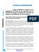 Nota de Prensa Arreglo Casas Cuartel Guardia Civil en La Provincia