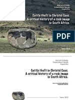 Cattle theft in Christol Cave. A critical history of a rock image in South Africa.