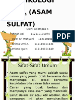 Toksikologi h2so4 (Asam Sulfat)