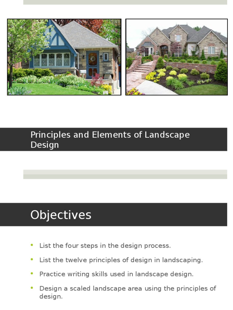 Principles Of Landscape Design Ppt 1 Weighing Scale Plants
