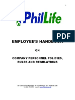 Phil Life Employees Handbook