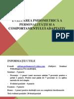 Psihodiagnoza Personalitatii_Seminar 1