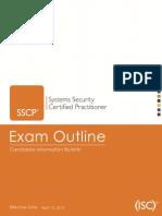 Sscp Exam Outline April 2015