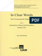 In Clear Words - The Prasannapadā, Chapter One Vol I - Introduction, Manuscript Description, Sanskrit Text