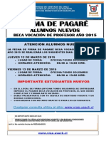 Afiche firma de pagaré Beca Vocación de Profesor 2015
