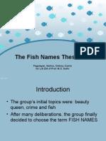 The Fish Name Thesaurus