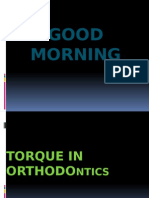 Torque in Orthodontics