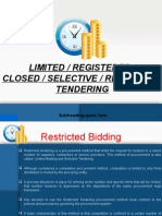 closed tendering