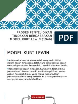 Proses Penyelidikan Tindakan Berdasarkan Model Kurt Lewin