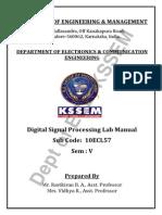 DSP Lab Manual (10ECL57) - VTU Syllabus