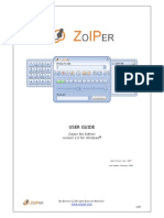 Zoiper 2.0 Biz Manual