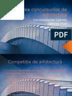 Povestea Concursurilor de Arhitectura