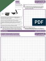 Light Intensity Survey (for bigger rooms)