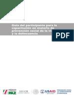 Guia Del Participante Para La Capacitacion en PSVD
