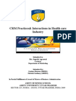 CRM Practices& Interactions in Health care Industry
