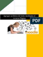 Agregar Archivos de Texto Mediante El Recurso Pagina