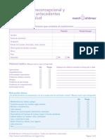 Formulario Del Historial Medico Familiar