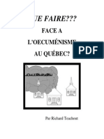 Face a l Oecumenisme Comment Reagir