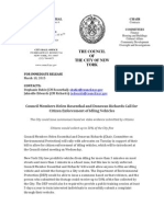 Council Members Helen Rosenthal and Donovan Richards Call for Citizen Enforcement of Idling Vehicles (March 10, 2015)