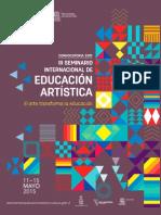 CONVOCATORIA 2015  III SEMINARIO INTERNACIONAL DE EDUCACIÓN ARTÍSTICA
