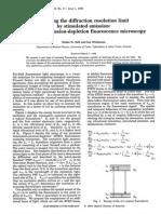 Teorización Da Microscopía STED