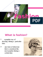 Fashion and History of Fashion
