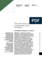 Majid Levinson Senses in Language and Culture 2011