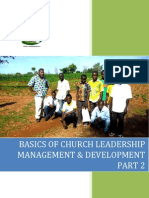 Basics of Church Leadership Management Part 2