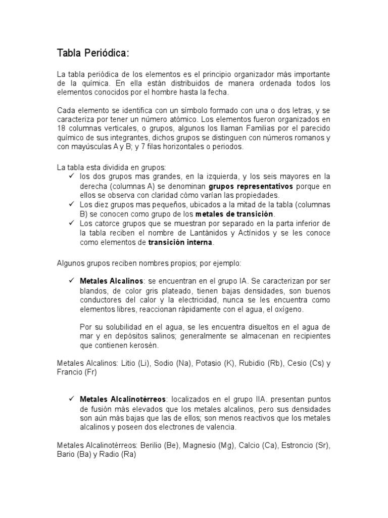 tabla peridica y simbolo quimico - Tabla Periodica Con Sus Valencias Y Familias