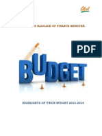 Budget Highlights 2015-2016.