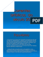(Microsoft Power Point - Correntes Artisticas