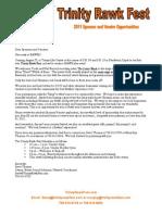Trinity Rawk Fest Sponsor Vendor Packet Updated