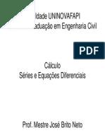 Cálculo - Séries e Equações Diferenciais