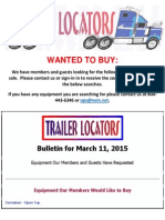 Wanted to Buy Bulletin - March 11, 2015