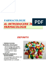 Farmacologie-Introducere