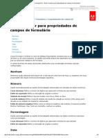 Adobe Acrobat Pro _ Guia Formatar Para Propriedades de Campos de Formulário