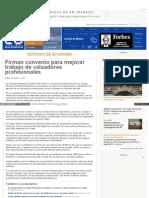 11-03-15 FIRMAN CONVENIO PARA MEJORAR TRABAJO DE VALUADORES PROFESIONALES