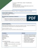 portfolio lesson plan- sample 4