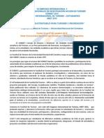 """Circular II Condet  - CIT 2015. """"Innovación Sustentable para Turismo y Recreación"""""""