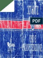 Manuale Uso e Manutenzione Yamaha Ténéré 1VJ