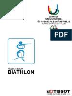 WU 2015 Biathlon Results