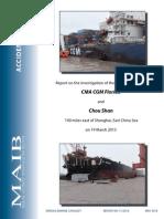 Raport de coliziune doua nave ( ship collision report)
