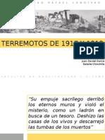 Terremotos de 1917 y 1918 Guatemala