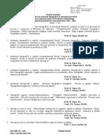 Planul Cursurilor Stomat. 2014-2015